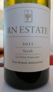 RN Estate Syrah Two Syrahs