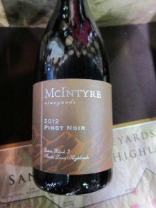 McIntyre Vineyards Pinot Noir Santa Lucia Highlands