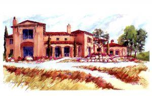 Canyon Villa Watercolor Field Recordings in Paso Robles