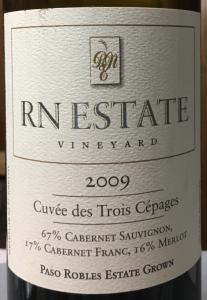 RN Estate 2009 Cuvée des Trois Cépages