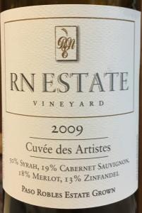RN Estate 2009 Cuvée des Artistes
