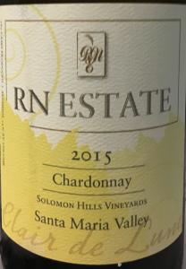 RN Estate 2015 chardonnay