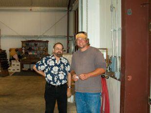 Tony with Doug Kruse at Jack Creek Winery