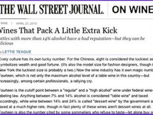 Wall Street Journal wine column