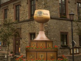 Reisling Wine Glass Sculpture Germany