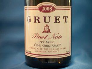 Gruet 2008 pinot noir label