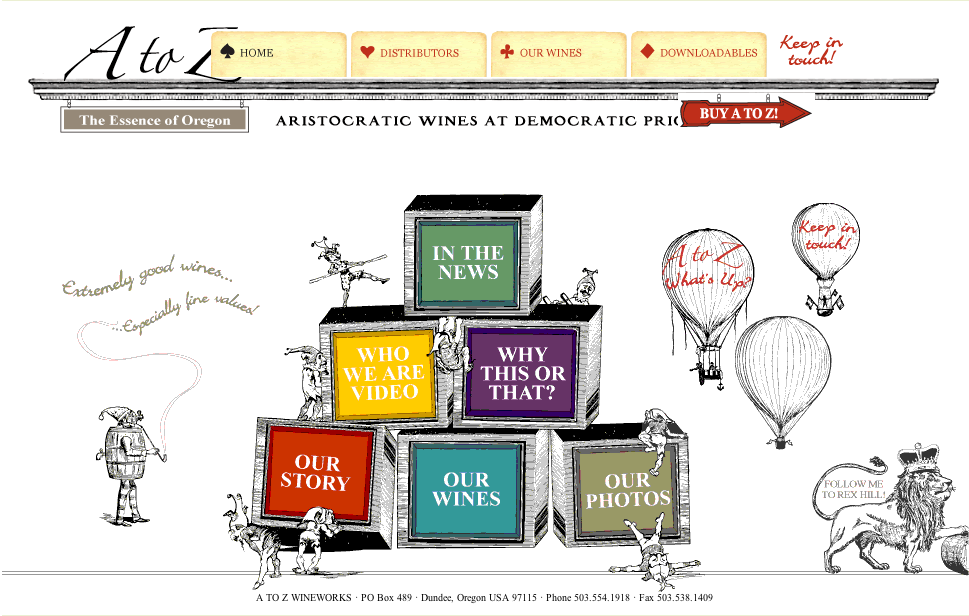 A to Z Winery home page