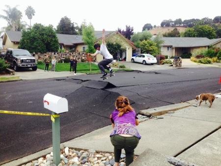 Napa Quake Skateboarder