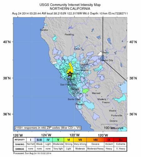 Napa Quake USGS Crowdsourced Map