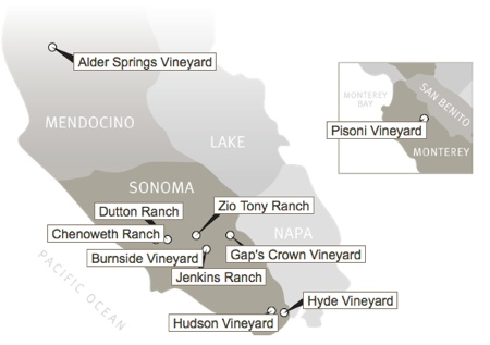 Patz & Hall Vineyard Map Pinotfest 2014: the Best of the Rest