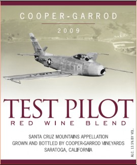 Test Pilot Label Art and Wine at Stanford