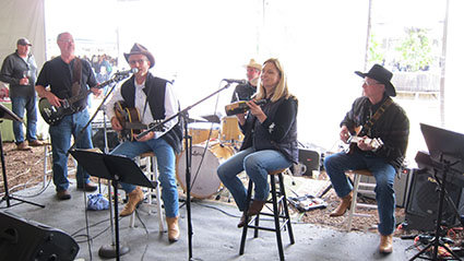The Band (with Wine Bottle Player) Anderson Valley Pinot Noir Festival