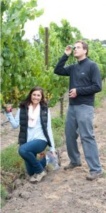 Jacqueline Balletto and Winemaker Anthony Beckman